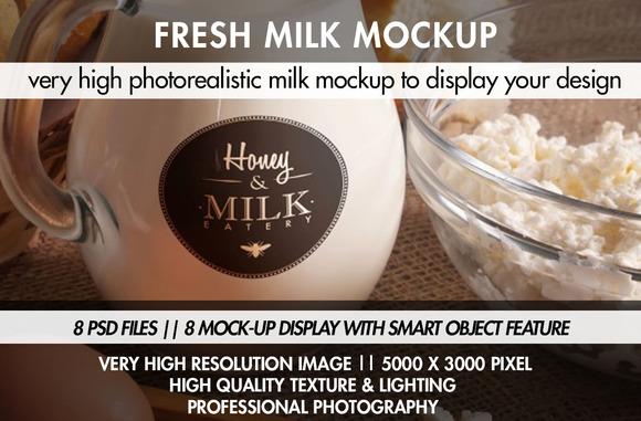 Fresh Milk Mockup