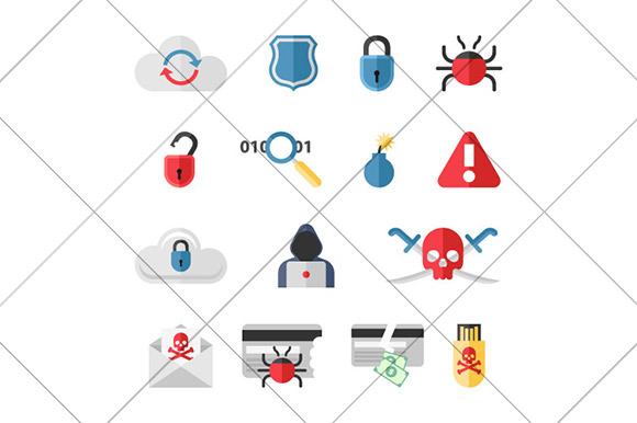Hacker Flat Icons