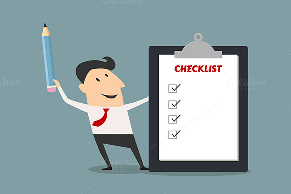 Businessman Holding Checklist Board