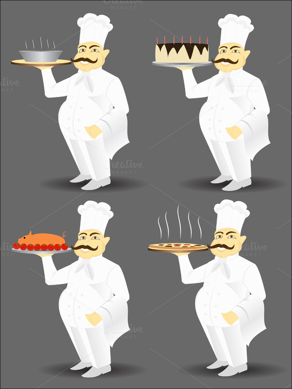 Chefs Vector Illustration