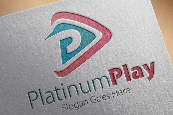 Platinum Play P Letter