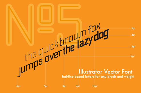 No.5 Illustrator Vector Font