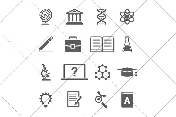 Research And Science Black Icons