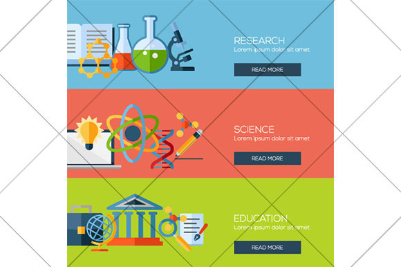 Research And Science Web Banners
