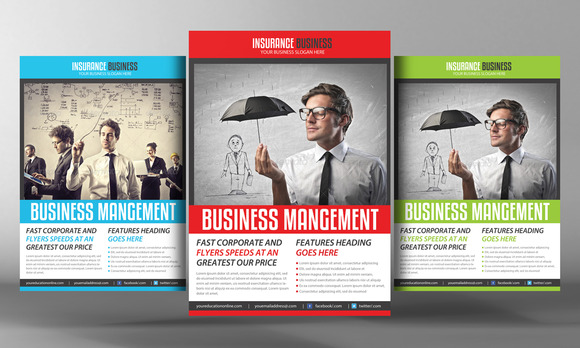 Insurance Business Flyer Template