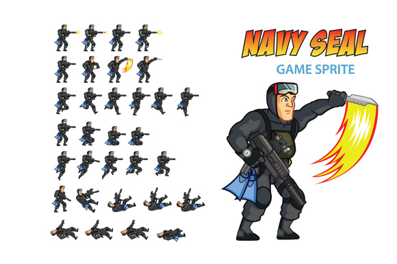 NAVY SEAL Game Sprite
