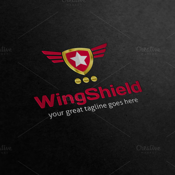 Wings Shield Crest Logo