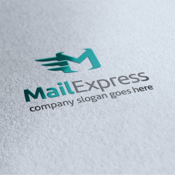 Mail Express Letter M Logo