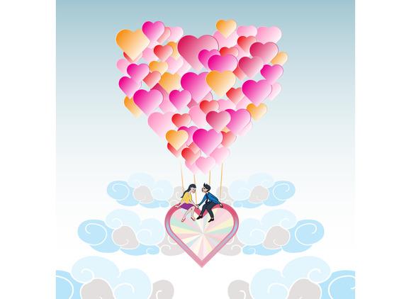 Lover On Heart Balloon