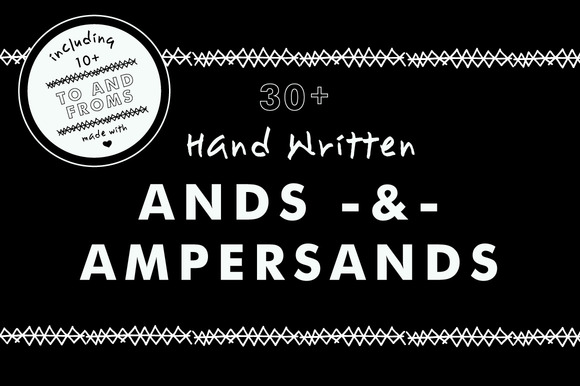 Hand Drawn Ands Ampersands