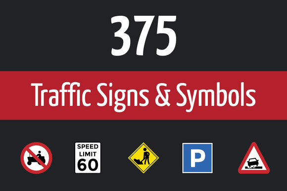 375 Traffic Signs And Symbol