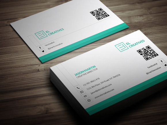 Light Dark Corporate Business Card