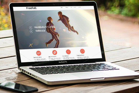 Freefall PSD Template
