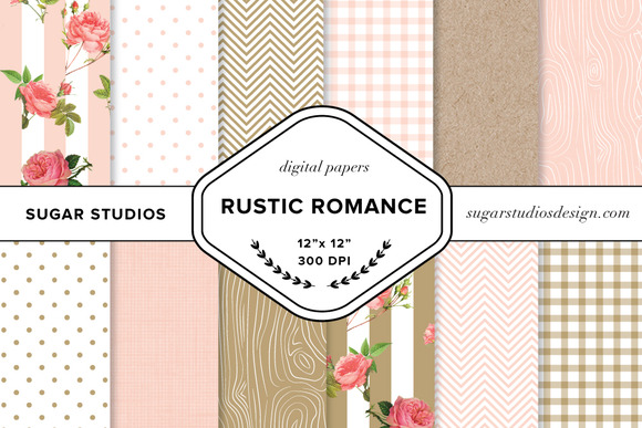 Rustic Romance Digital Backgrounds