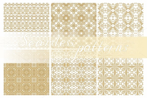Set Of Seamless Laced Patterns