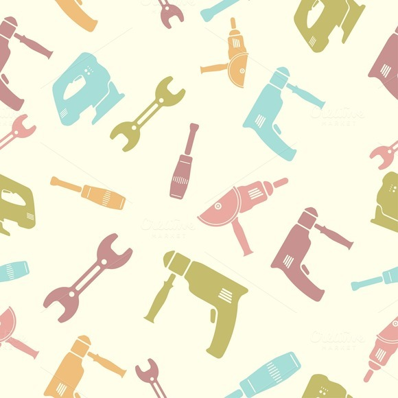 Seamless Pattern Of Tools