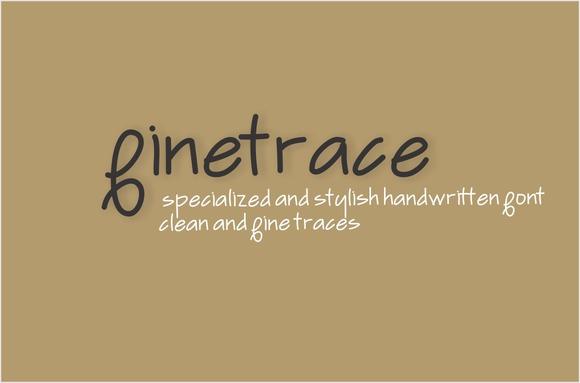 Finetrace Font