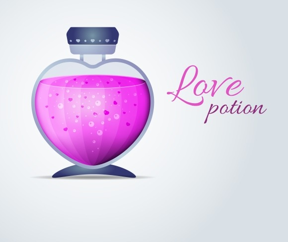 Love Potion For Valentines Day Cards