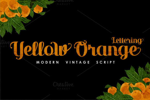 Yellow Orange Lettering