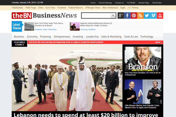 TheBusinessNews Newspaper Theme