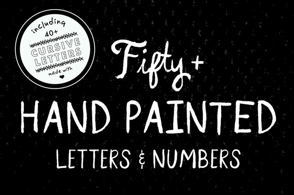 Hand Painted Letters Numbers