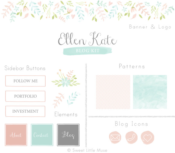 Watercolor Blog Kit