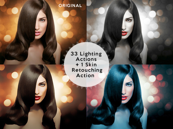 Set 1 33 Photoshop Lighting Actions