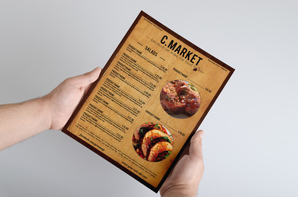 Old West Style Menu Template
