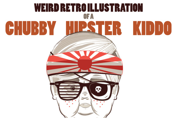 Retro Chubby Hipster Kid