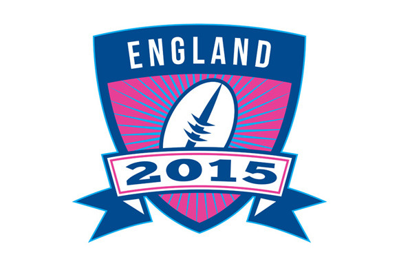 Rugby Ball England 2015 Shield Retro