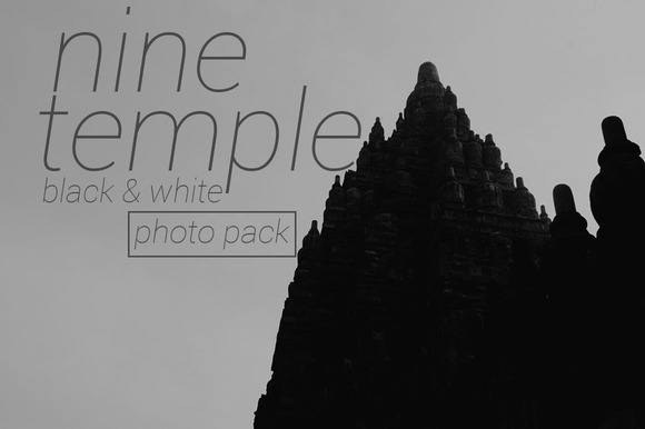 9 Temple BW Photo Pack