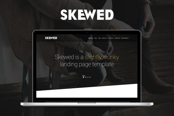 Skewed Landing Page Template