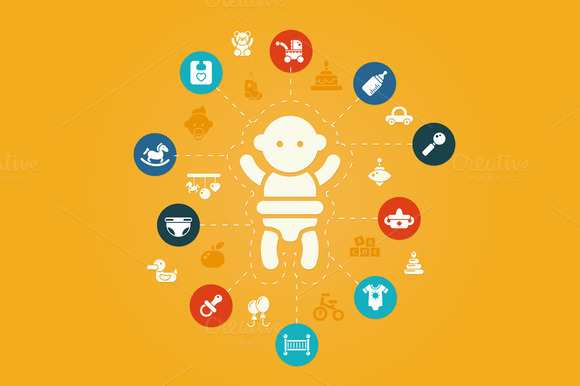 Baby Composition With Icons
