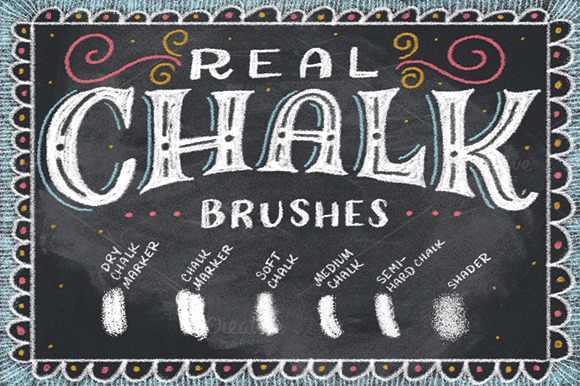 Real Chalk Brushes