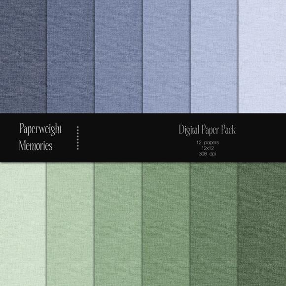 Paper Basic Linen Blue Green