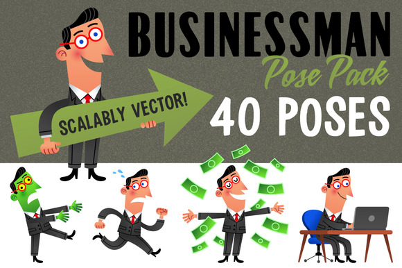 40 Pack Businessman Poses
