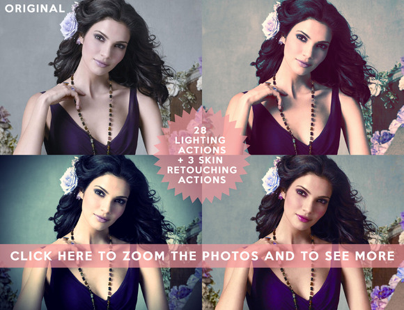 Set 4 28 Photoshop Lighting Actions