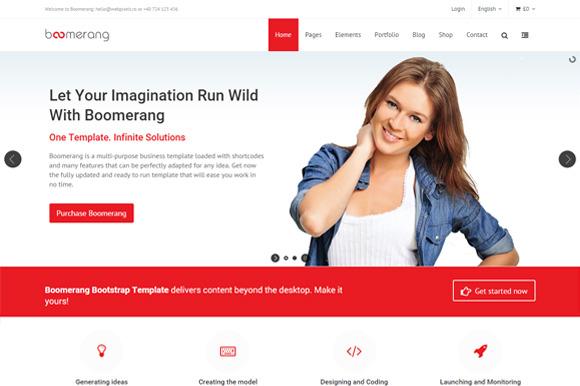 Boomerang Bootstrap Template