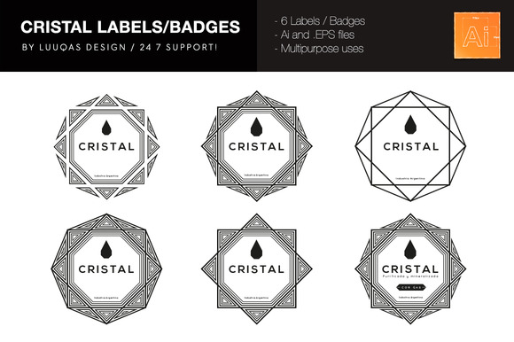 Cristal Labels Badges