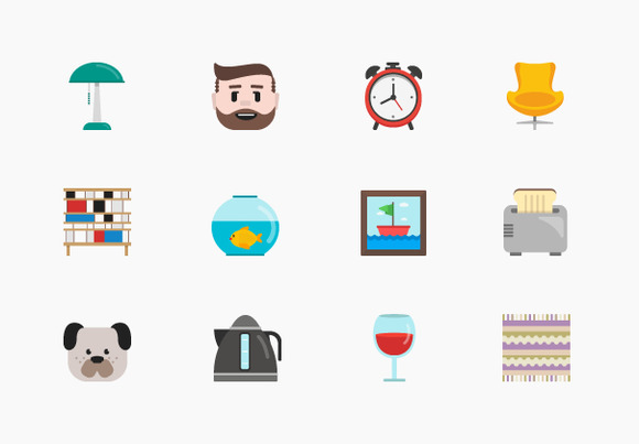 100 Homey Icons Set