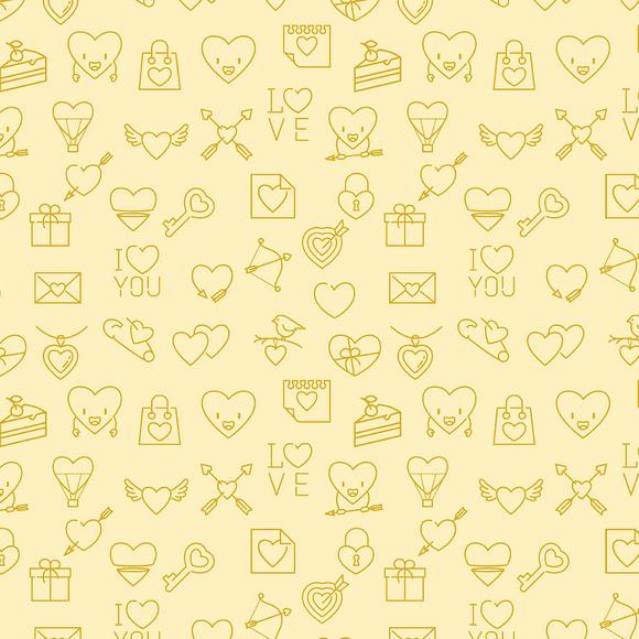Valentines Seamless Patterns Bundle
