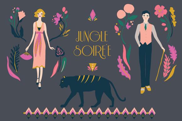 Jungle Soiree Clip Art Set
