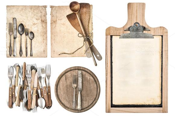 Kitchen Board Aged Recipe Paper