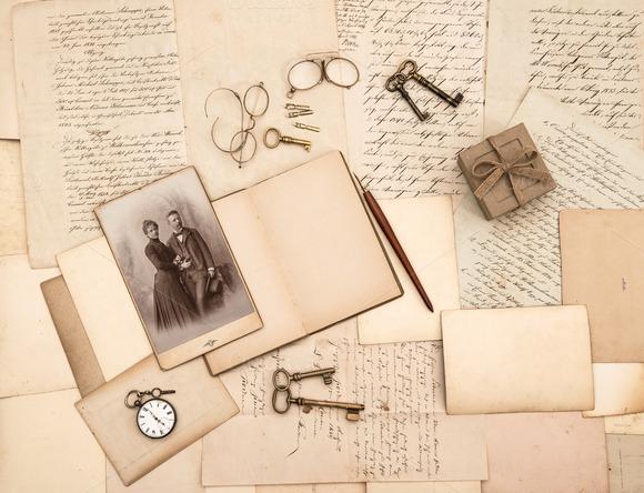 Vintage Accessories Letters Photo
