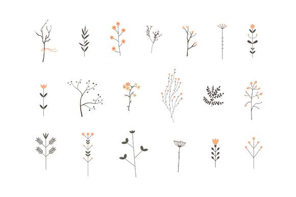 Romantic Branches Vector Set