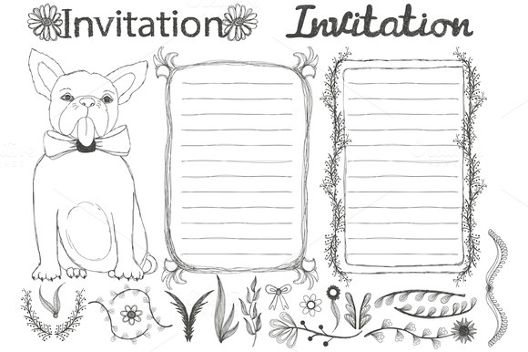 Invitation Design Set