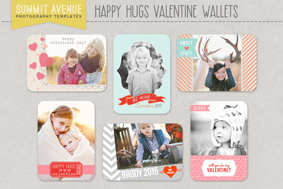 Valentine Wallet Photo Templates