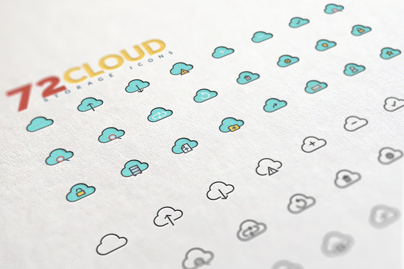 Cloud Storage Icons Set