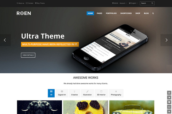 ROEN Multi-Purpose WordPress Theme