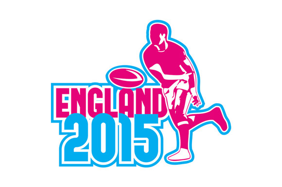 Rugby Player Passing Ball England 20